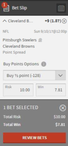 Buying NFL Points