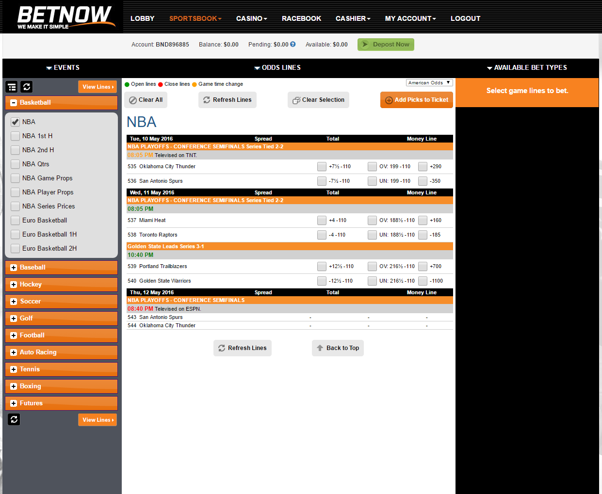 BetNow Screenshot