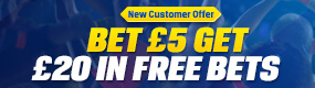 New Customer Offer - Coral Bet 5 Get 20 Free Bet