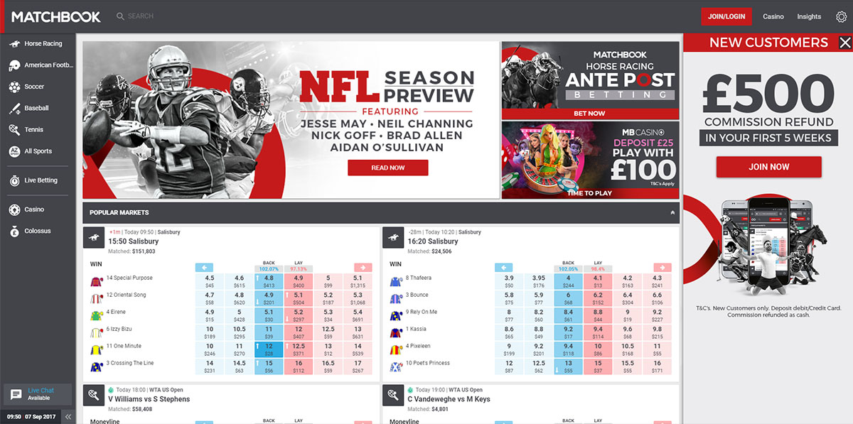 List of sports betting exchanges plus minus points betting websites