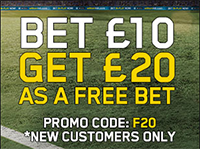 William Hill Welcome Bonus - Bet 10 Get 20 as a Free Bet
