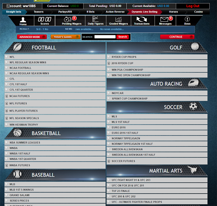 Wager506 Landing Page Betting Interface