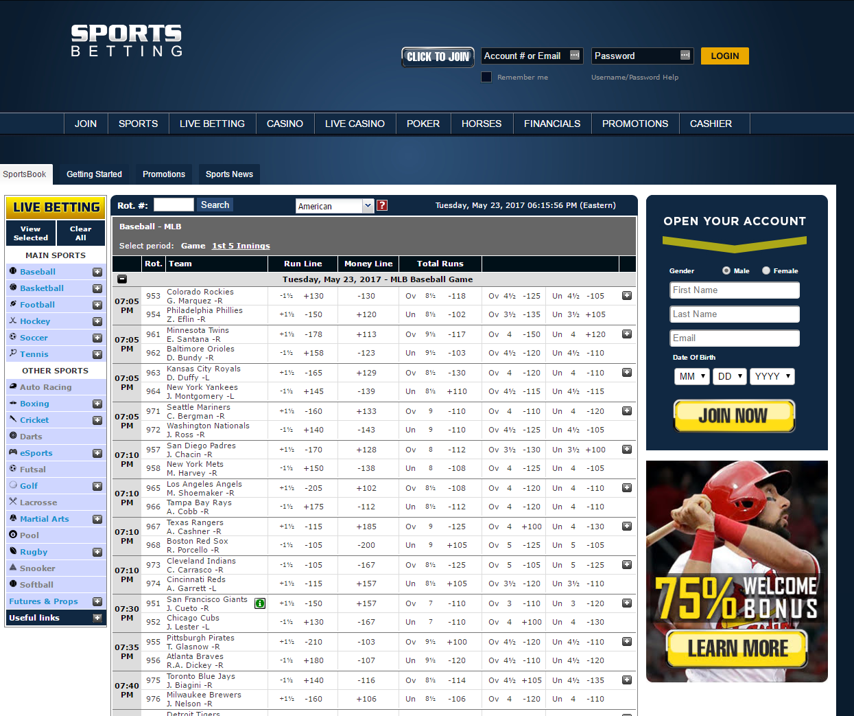 American sports betting websites us