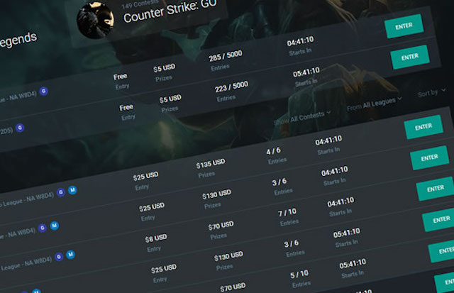 eSports League of Legends Betting