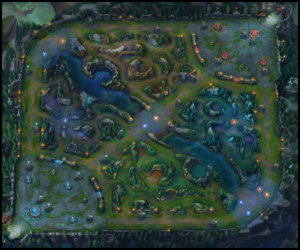 League Of Legends - Summoners Rift Map