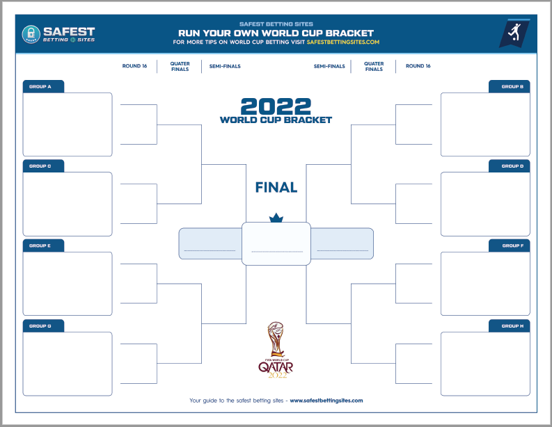 Free 2022 Official World Cup Bracket Printable