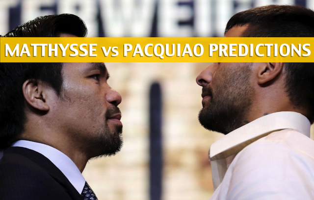 Manny Pacquiao vs. Lucas Matthysse Pick To Win - Betting Odds