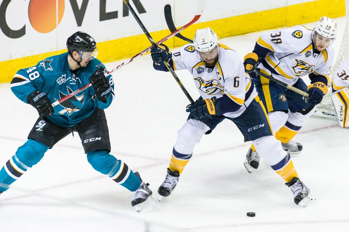Sharks Vs. Predators - Free NHL Consensus Picks For Tonight