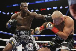 Deontay Wilder punching