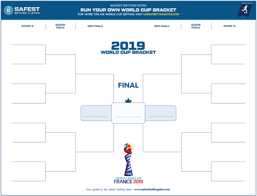 Free 2019 Official Women's World Cup Bracket Printable PDF