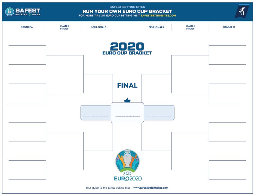 Free 2020 Official Euro Cup Bracket Printable