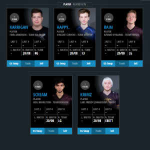 CSGO Fantasy Betting