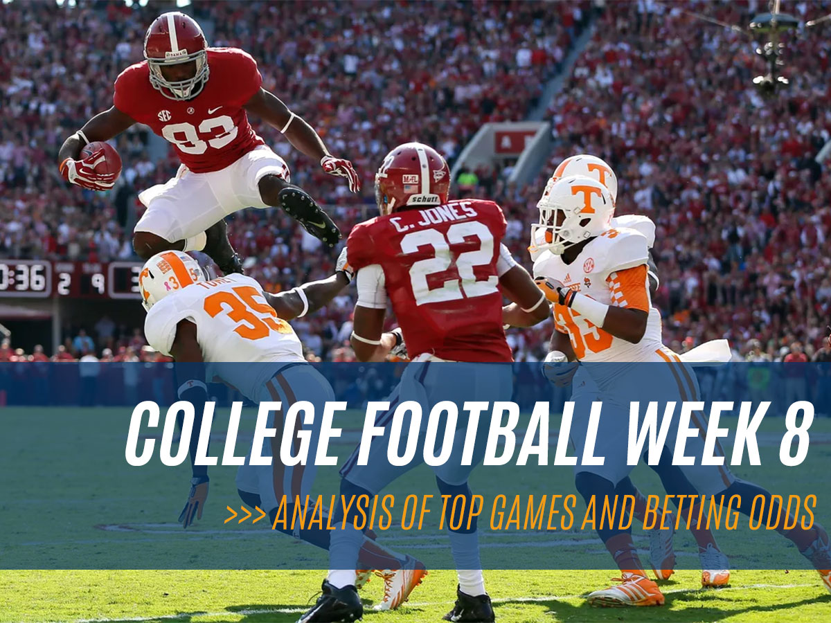 College Football (NCAAF) Week 8 Top Games and Betting Odds