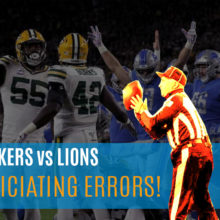 Lions vs Packers officiating mistakes