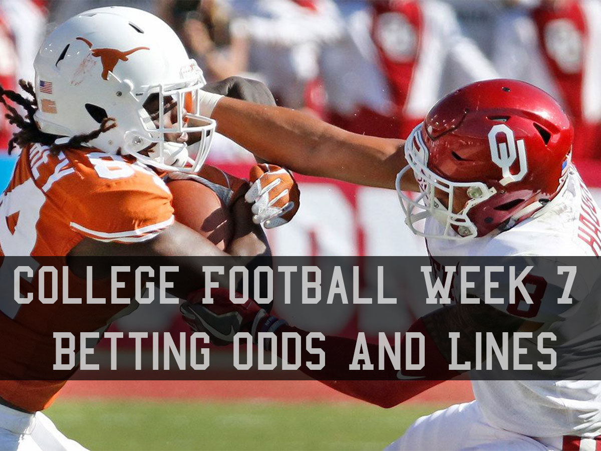 College football week 7 betting lines and odds