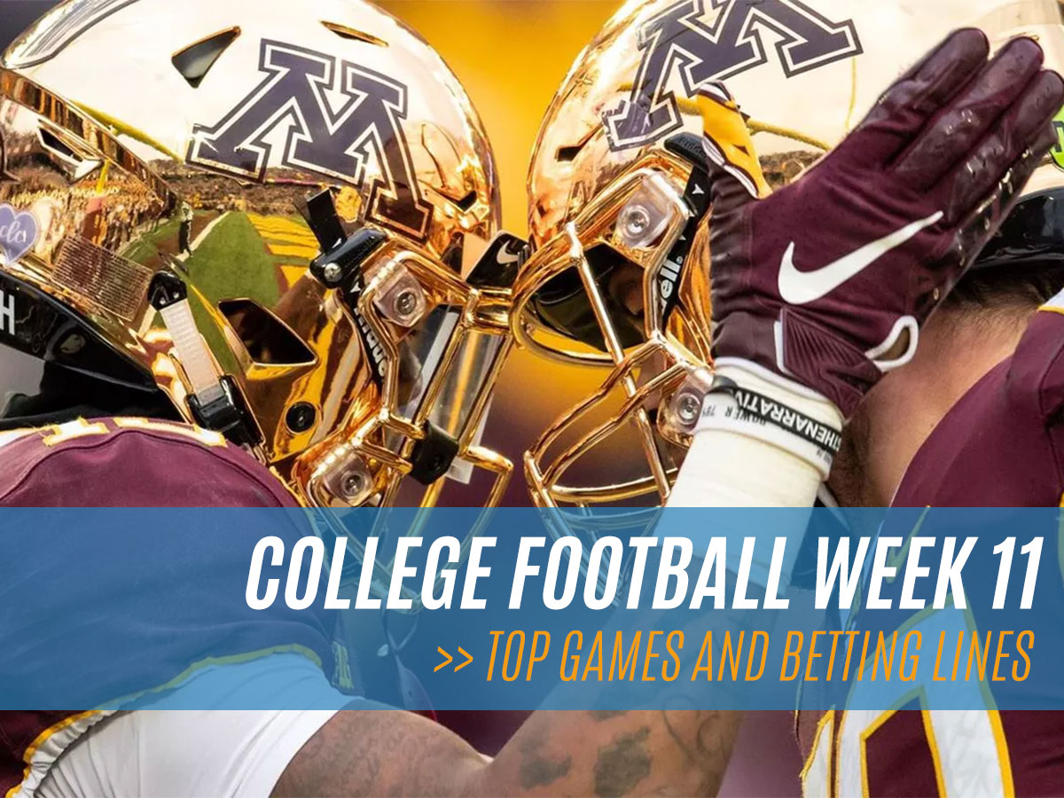 NCAAF Football Week 11 Betting Lines and Odds