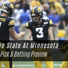 Ohio State At Minnesota Betting Lines & Pick - College Football Week 14