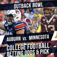 Betting on the Outback Bowl: Auburn Vs. Minnesota Betting Line & Pick