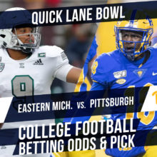 Betting on the Quick Lane Bowl: Pittsburgh Vs. Eastern Michigan Betting Line & Pick