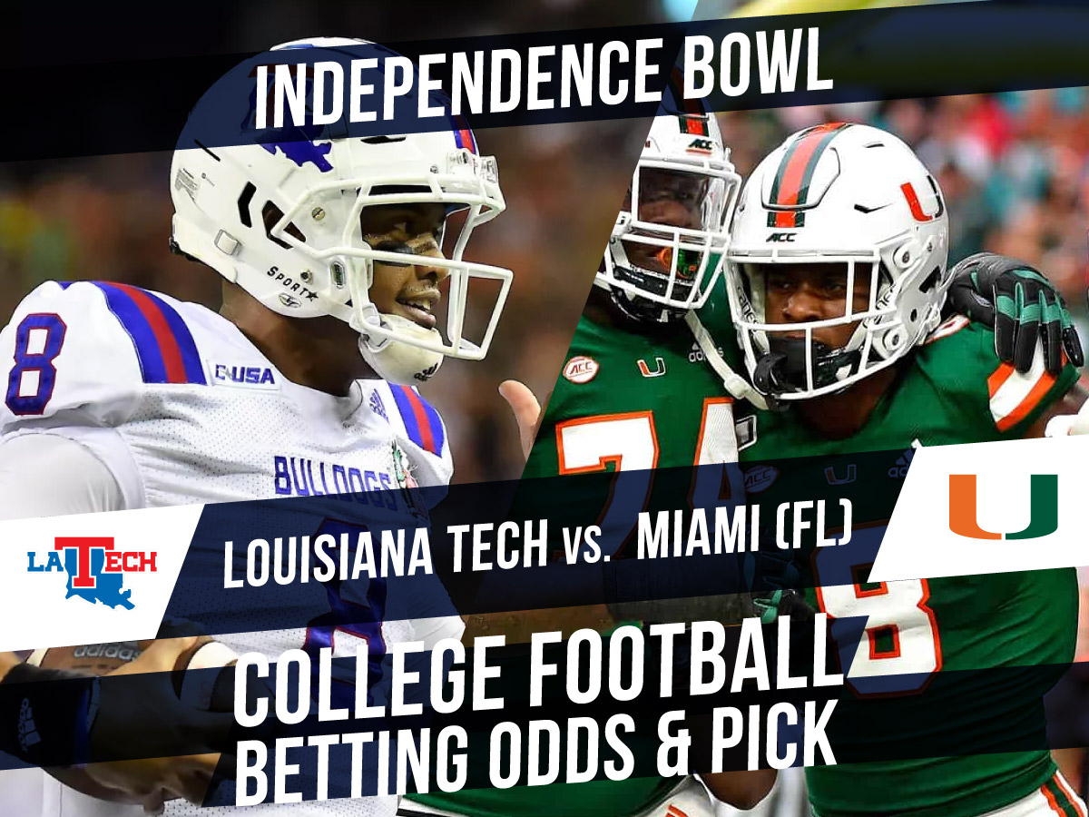 Betting on the Independence Bowl 2019: Louisiana Tech vs. Miami betting line & pick