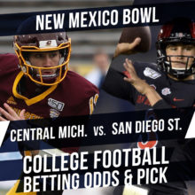 Betting on the New Mexico Bowl: Central Michigan Vs. San Diego State Betting Line & Pick