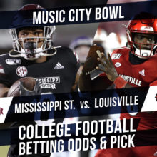Betting on the Music City Bowl: Mississippi State Vs. Louisville Betting Line & Pick