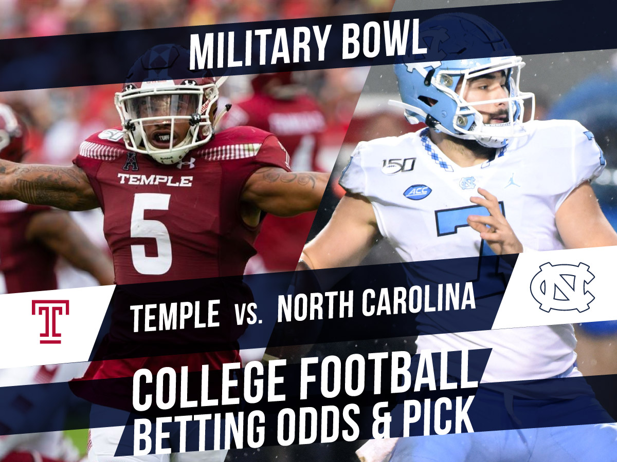 Betting on the Military Bowl: North Carolina Vs. Temple Betting Line & Pick