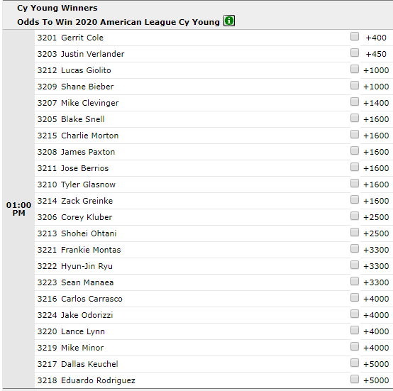 Betting MLB Seasonal Awards Futures
