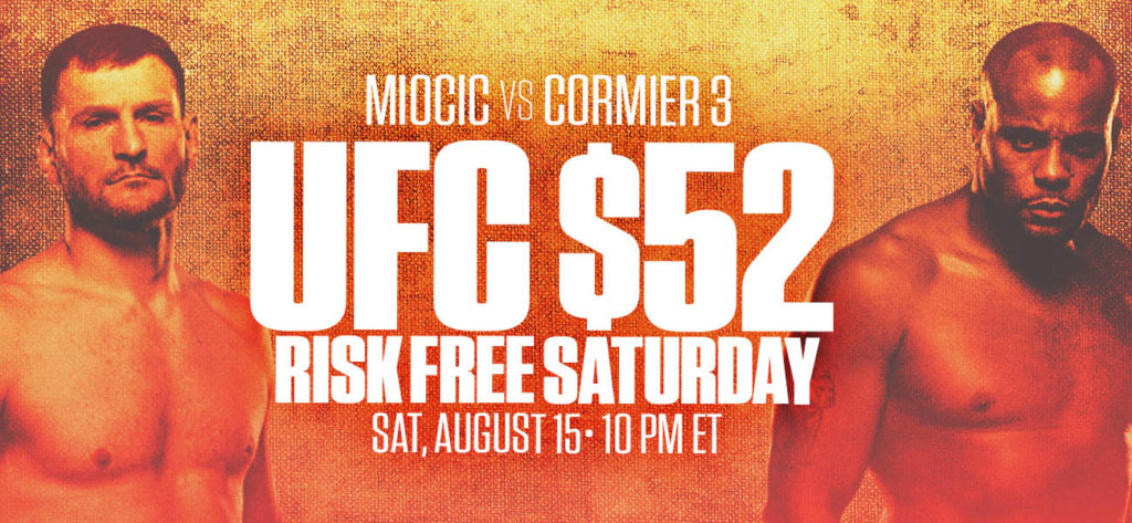 MyBookie 52 Risk Free Bet For UFC252