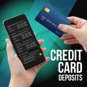 Bet with a credit card deposit